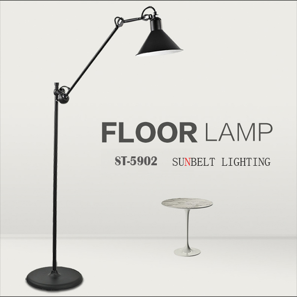 Adjustable top designed iron floor lamp