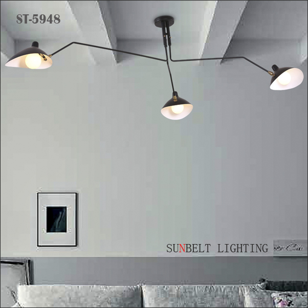 Three head modern ceiling lamp