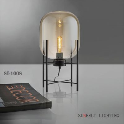 Amber glass table lamp&floor lamp
